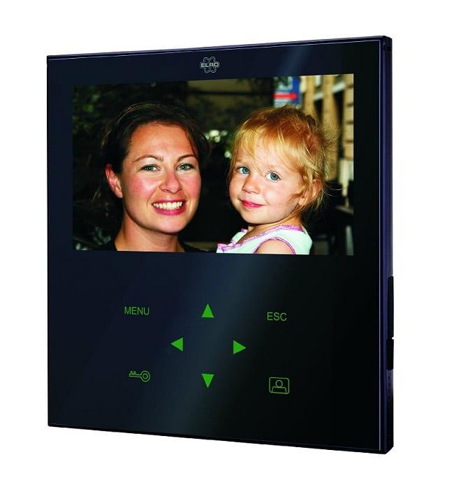 ZOOM : Interphone vidéo filaire Elro VD71Z avec écran plat noir